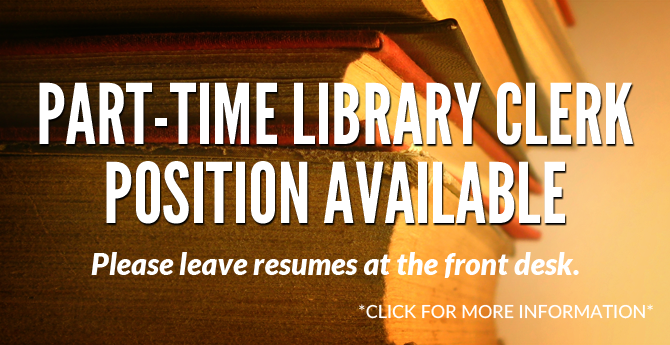 Employment-Library-Clerk-Part-Time-Slide